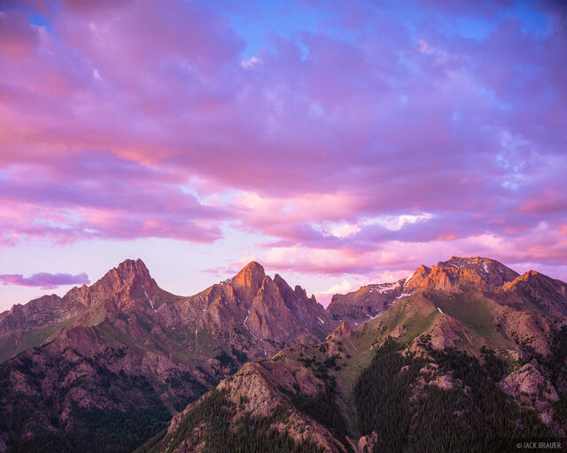 Needles Sunset, San Juan Mountains, Colorado
