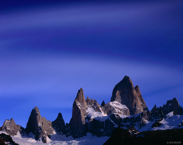 Cerro Poincenot, Monte Fitz Roy, Moonlight, Chaltén