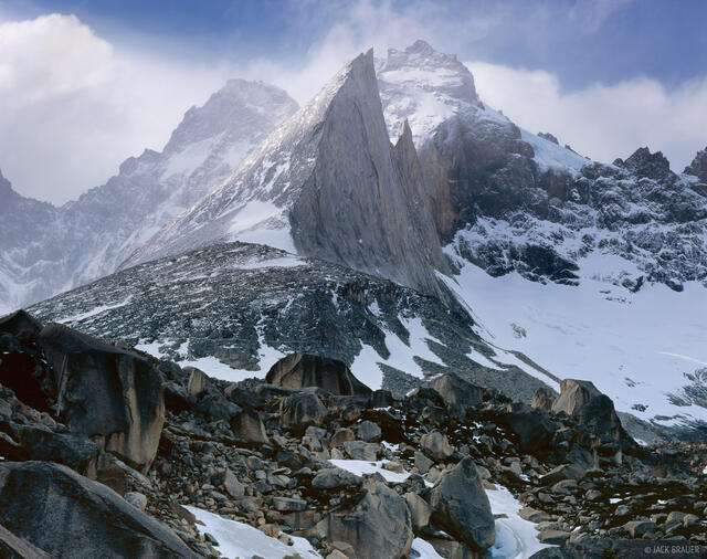Cerro Tibur, Valle Frances, Torres del Paine, Chile, South America, Patagonia, large format, 4x5, rugged, jagged, rock,C