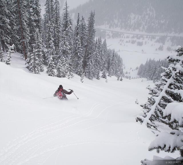 backcountry skiing, powder, San Juans, Colorado