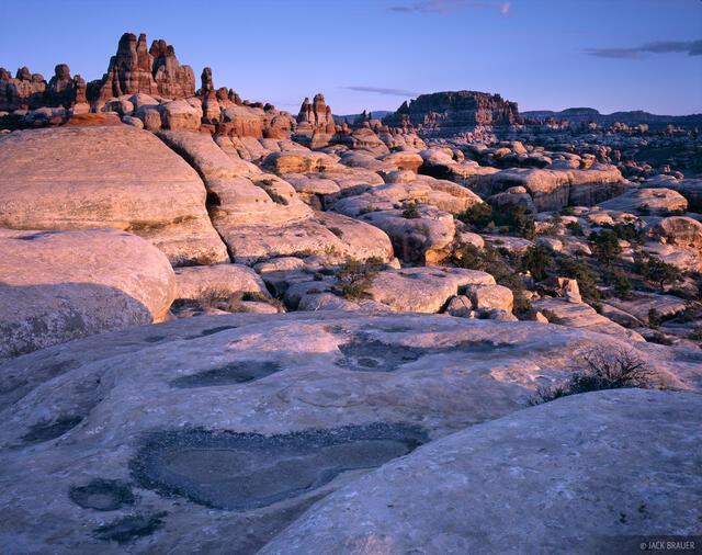 Needles District, Canyonlands National Park, Utah, sunset