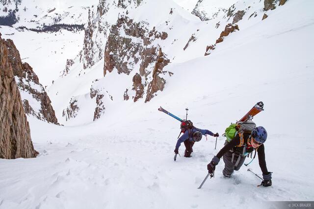 Pearl Couloir, Cathedral Peak, Elk Mountains, Colorado, Maroon Bells-Snowmass Wilderness