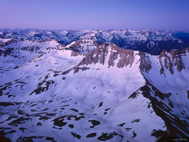Dawn, Mt. Sneffels, summit, San Juan Mountains, Colorado