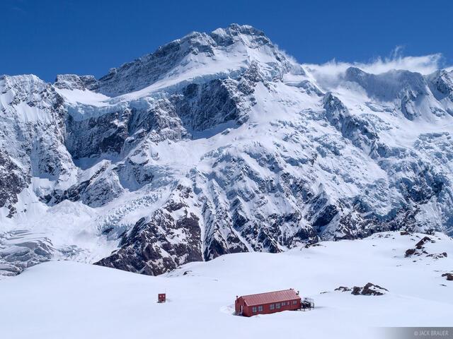 Mueller Hut, Mount Sefton, New Zealand, Southern Alps
