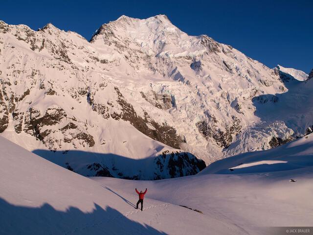 New Zealand, Aoraki, Mt. Cook, Caroline Glacier, Southern Alps