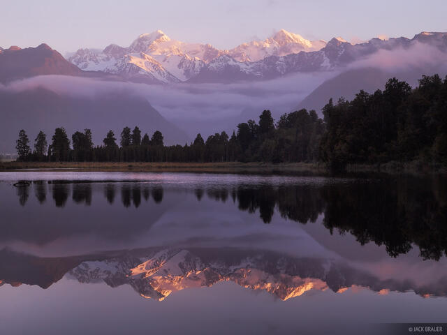 Lake Matheson, Tasman, Mount Cook, West Coast, Fox Glacier, New Zealand
