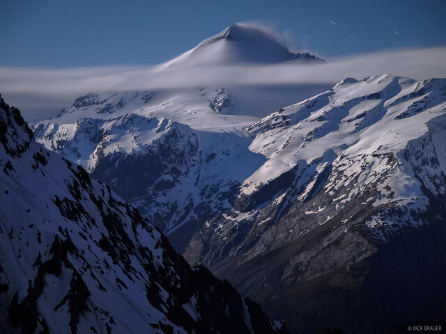 Mt. Aspiring, moonlight, New Zealand