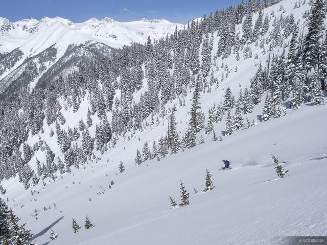 untracked, San Juans, Colorado, skier
