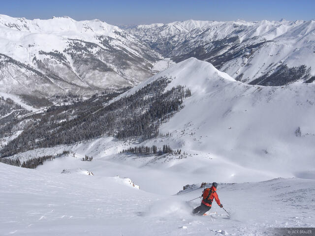 backcountry, skiing, San Juans, Colorado