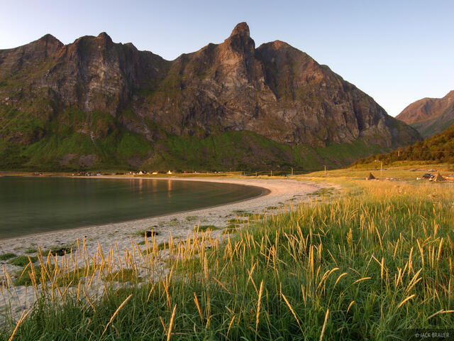Senja, beach, Ersfjord, Norway