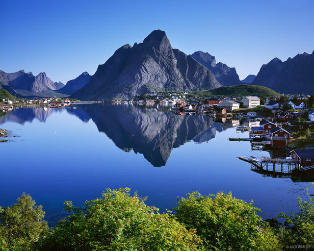 Reine, reflection, Lofoten, Norway, Moskenesøya