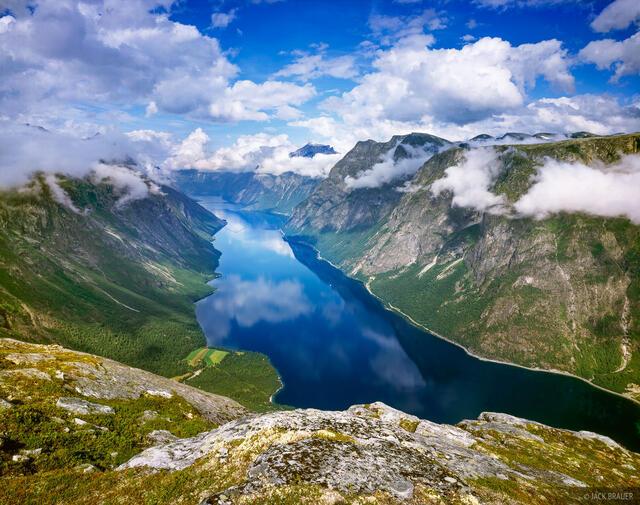 Eikesdalsvatnet, lake, Romsdal, Norway