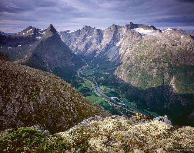Romsdalshornet, Trolltindan, Trollveggen, Romsdalen, Norway