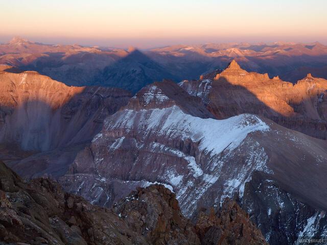 Sneffels, fourteener, sunset, San Juans, Colorado