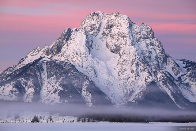 Mt Moran Mist and Sunrise