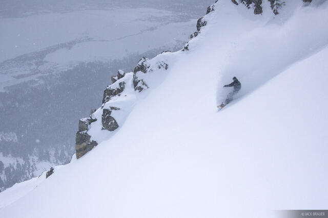4 Pines, village, Jackson Hole, Wyoming, snowboarding, powder