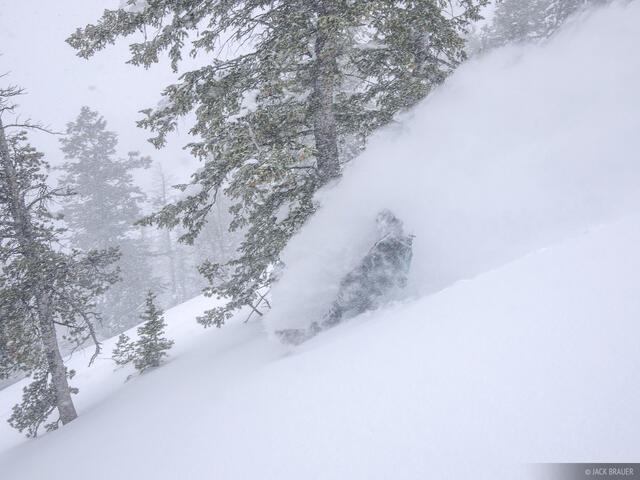 face shots, powder, snowboarding, Teton Pass, Jackson Hole, Wyoming