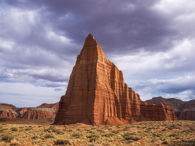 Temple of the Sun, Lower Cathedral Valley, Utah, Capitol Reef National Park