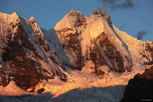Cordillera Huayhuash, Peru, Jirishanca, sunset