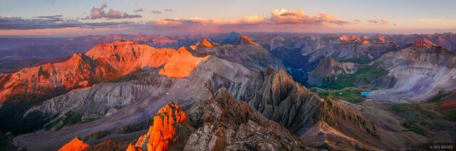 Sneffels Summit Sunset Panorama