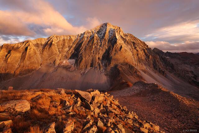 Capitol Peak, Elk Mountains, Colorado, sunset, Maroon Bells-Snowmass Wilderness