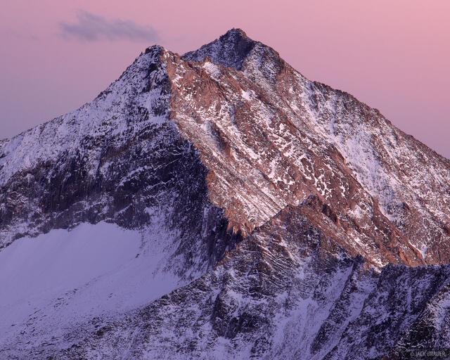 Snowmass Mountain, Elk Mountains, Colorado, dusk, Maroon Bells-Snowmass Wilderness