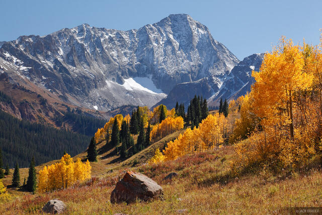 Capitol Peak, Elk Mountains, Colorado, autumn, Maroon Bells-Snowmass Wilderness