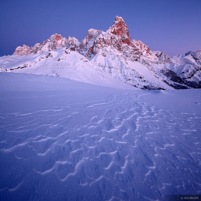 Cimon della Pala, Dolomites, Italy, December, winter