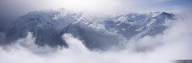Mayrhofen, Austria, panorama, clouds, Zillertal