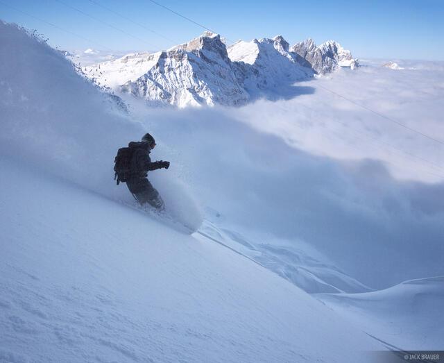 Steinberg, glacier, powder, Titlis, Engelberg, Switzerland, snowboarding
