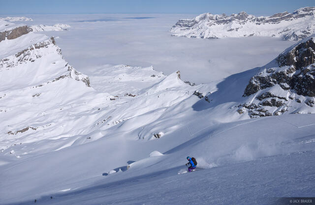 skiing, Engelberg, Switzerland, powder
