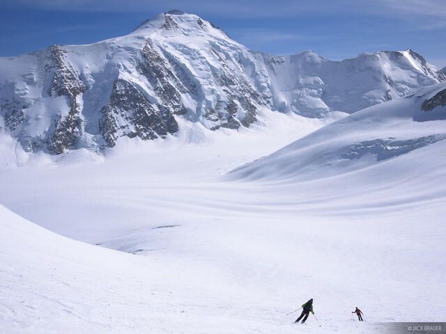Kransbergfirn, Aletschhorn, Bernese Oberland, Switzerland, skiing