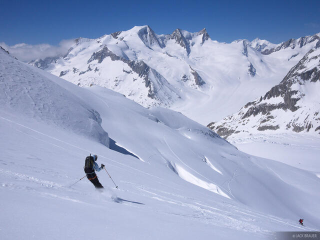 Galmihorn, skiing, Bernese Oberland, Switzerland