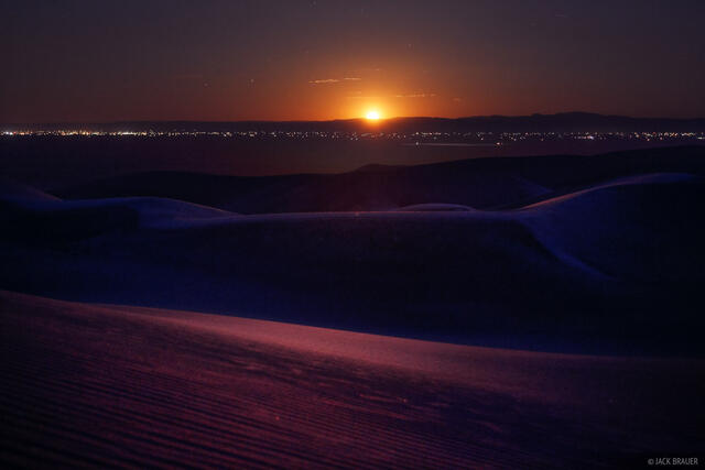 Great Sand Dunes, Colorado, moonset, San Luis Valley