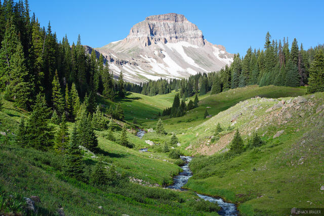 Uncompahgre Peak, Big Blue Creek, San Juan Mountains, Colorado
