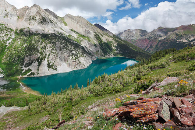 Snowmass Lake, Elk Mountains, Colorado, July, Maroon Bells-Snowmass Wilderness