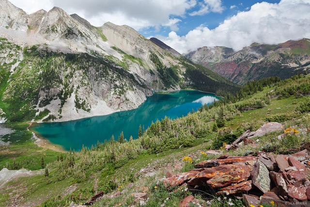 Snowmass Lake, Elk Mountains, Colorado, July, Maroon Bells-Snowmass Wilderness