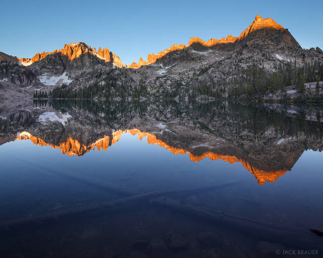 Baron Lake, blue, reflection, Sawtooth Mountains, Idaho