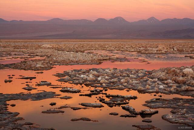 Laguna Chaxa, Salar de Atacama, San Pedro de Atacama, Chile, sunset