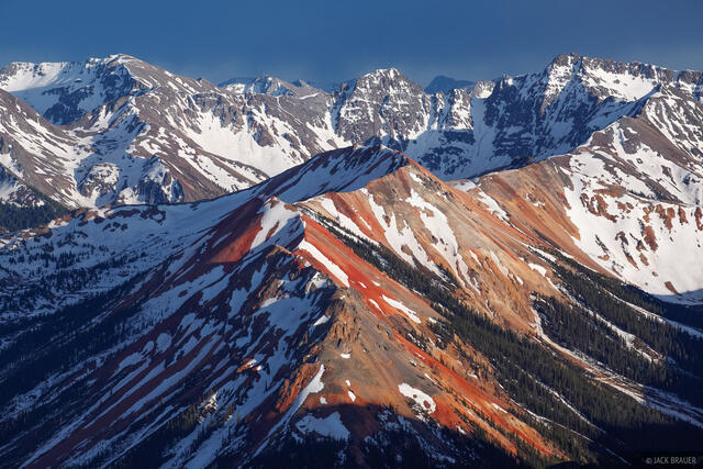 Colorado,Red Mountain,San Juan Mountains, Red Mountain Pass, May