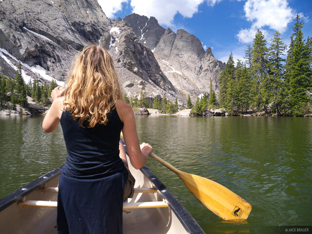 Colorado, Sangre de Cristos, Willow Lake, canoe, Sangre de Cristo Wilderness
