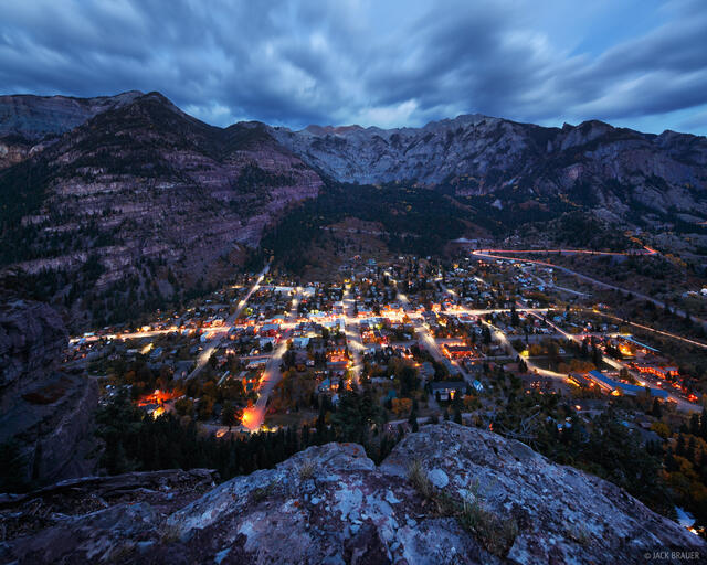 Ouray, Colorado, lights, October