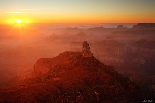 Point Imperial, Grand Canyon, Arizona, haze, sunrise