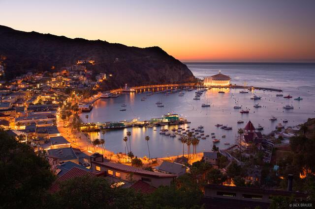 Avalon, Catalina Island, California, sunset