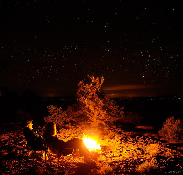 bonfire, Cedar Mesa, Utah, stars, Bears Ears National Monument