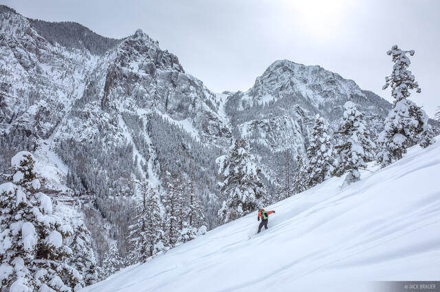 Colorado, San Juan Mountains, Weehawken, skiing, February, powder