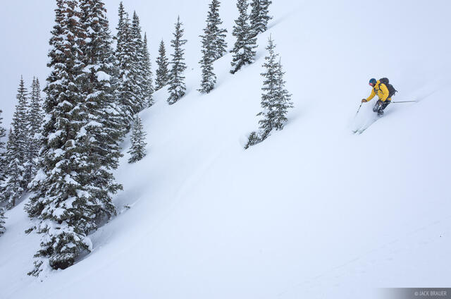 Colorado, Red Mountain Pass, San Juan Mountains, skiing, February, powder