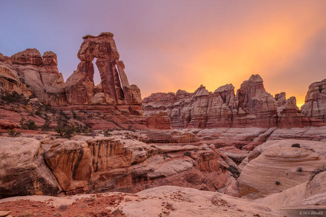 Canyonlands National Park, Needles District, Utah, Elephant Canyon, Druid Arch