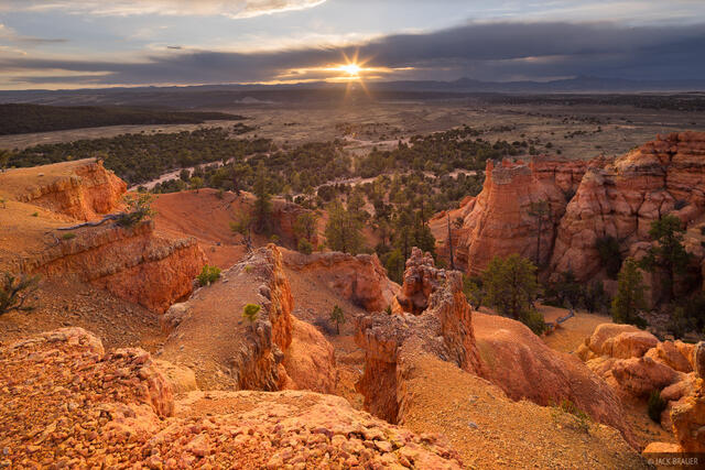 Red Canyon,Utah, sunset