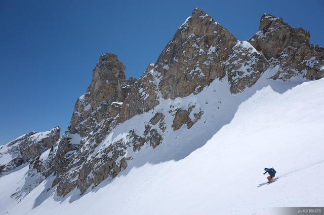 Tetons, The Jaw, Wyoming, skiing, Grand Teton National Park